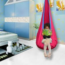 Child Kids Outdoor Indoor Pod Swing Chair Tent Hanging Seat Nook Tent Hammock Us