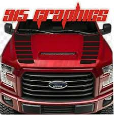 2x Vinyl Hood Decals Fits Ford F 150 2015 2020 Truck Stripes Graphic Decals Ebay