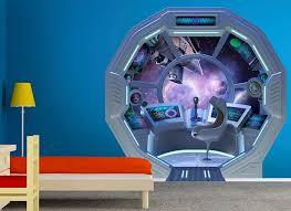 Spaceship Escape Pod Wall Decal