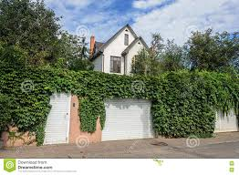 Small White Two Storied Residential House Fence With Hops Stock Image Image Of Europe Abode 78535473