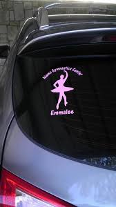 Ballet Dancer Decals Customize Any Of Our Designs With Your Own Text Dance Fundraisers Ballet Decals