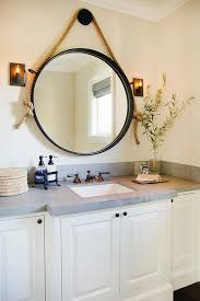 large round rope convex mirror with