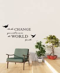 Vinyl Wall Decal Be The Change You Wish To See In The World Gandhi Ins Wallstickers4you