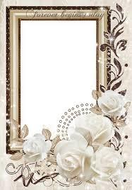 photo frame psd wedding white roses