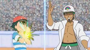 Pokémon Battle USUM: Ash Vs Professor Kukui (Pokemon League) - YouTube