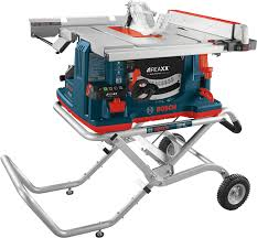 Gts1041a 09 10 In Reaxx Jobsite Table Saw With Gravity Rise Wheeled Stand Bosch Power Tools