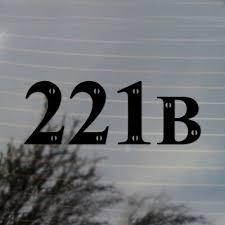 221b Sherlock Holmes Vinyl Decal Sticker Free Us Shipping For Car Laptop Tablets Etc