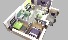 two bedroom house plan interior design