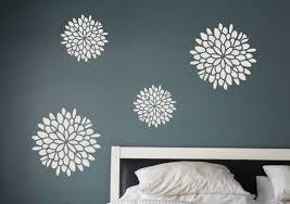 Flower Wall Decals Set Of 4 Decals Dahlia Flower Vinyl Home Decor Digiflaregraphics