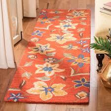 hand hooked wool rust area rug rug size