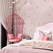 Cute Hello Kitty Kids Room Wallpaper 3d Lovely Cartoon Cat Children Baby Girl Bedroom Wall Papers Pink Blue Wallpapers Qz039 Wallpapers Aliexpress