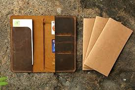 personalized distressed leather midori