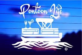 Pontoon Life Car Decal Sticker