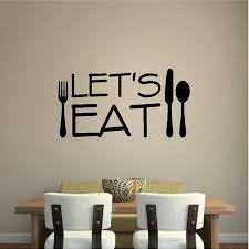 Let S Eat Kitchen Wall Decal Removable Kitchen Sticker Etsy