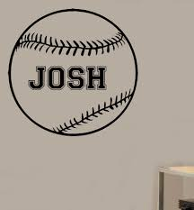 Personalized Baseball Vinyl Wall Decal Sticker This Online Store Powered By Storenvy