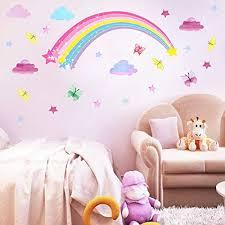 rainbow wall decal cloud wall decal