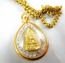 thai amulet 24 k yellow gold necklace