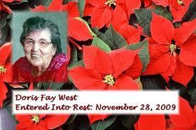 Doris Fay West Obituary - Visitation & Funeral Information