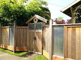 sheet metal privacy fence panels