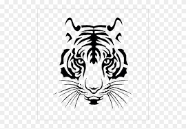 Png Tiger Silhouette Clipart Tiger Wall Decal Stencil Tiger Face Vinyl Decal Sticker Bumper Car Truck Window Free Transparent Png Clipart Images Download