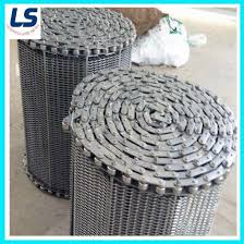 China Spiral Grid Wire Mesh Belt For Food Freezing Processing China Wire Belt Conveyor Belt