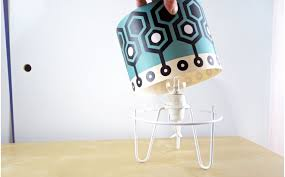 Kids Bedside Table Lamps Minilum Table Light For Nursery Or Kids Room Robot Lampshade And White Base Designed By E Glue