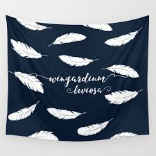 Wingardium Leviosa Wall Tapestry By Tineandshell Society6