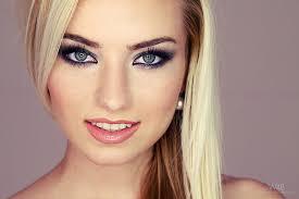 face makeup portrait green eyes