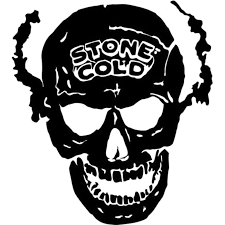 Flame Skull Vinyl Decal Sticker 6 Tall White Color