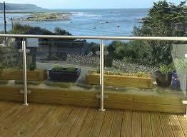 factory supply plexiglass deck railing