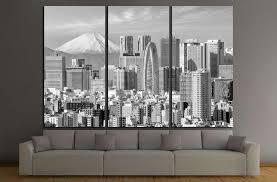 Tokyo Skyline And Mountain Fuji In Japan 1280 Ready To Hang Canvas Pr Zellart Canvas Prints