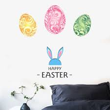 Lovehome Happy Easter Rabbit Vinyl Decal Art Wall Sticker Diy Home Room Decor Walmart Com Walmart Com