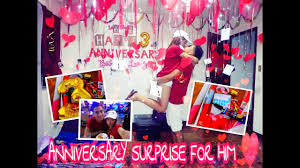 anniversary surprise for boyfriend