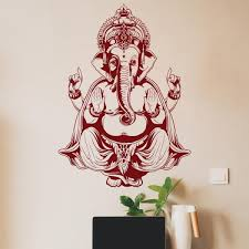 Ganesha Wall Decal Indian Wall Art Decor Decals Market