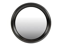 black painted framed mirror the