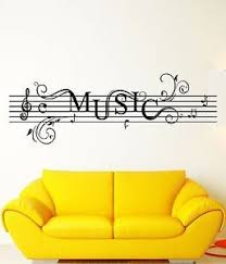 Wall Stickers Vinyl Decal Music Notes Rock N Roll For Living Room Z1734 Vinyl Decals Vinyl Sticker Wall Stickers