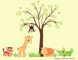 Zoo Animals Decal Baby Wall Decals Nursery Room Decal Baby Room Decals