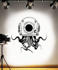 Octopus Wall Decal Scuba Wall Decal Tentacles Wall Sticker Etsy
