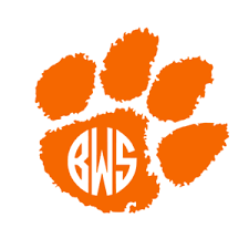 Clemson Tiger Paw Monogram Decal For Yeti Clemson Tigers Decal Tiger Paw Decal Ebay