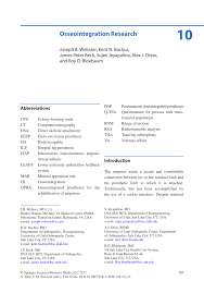 pdf osseointegration research