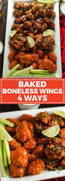baked boneless wings 4 ways host the