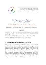 On Degenerations of Algebras over an Arbitrary Field * 1 Introduction and  statement of results