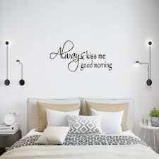 always kiss me good morning love wall quotes decals