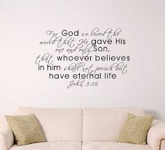 John 3 16 Scripture Wall Decal Home Or Church Decal Etsy