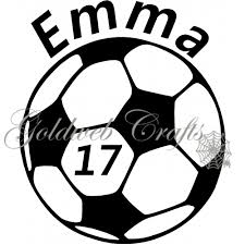 Personalized Soccer Car Decal 5 Soccer Vinyl Decal Soccer Personalized Soccer