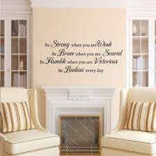 Be Strong When You Are Weak Wall Decal Inspiration Saying Baby Room Vinyl Decor For Sale Online Ebay