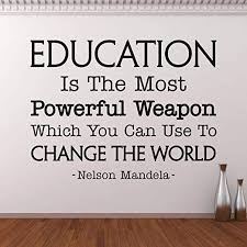 com wall decals education is the most powerful weapon wall