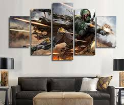 Star Wars Warrior Boba Fett Canvas Prints Wall Art Decor Blueartdecor