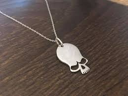 skull pendant necklace sterling silver