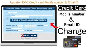 change hdfc credit card mobile number